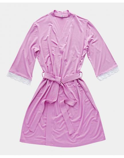 Халат пепельно-розового цвета