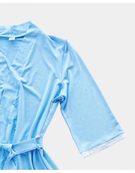 Халат нежного голубого цвета